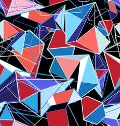 bright seamless abstract pattern of polygons vector image vector image