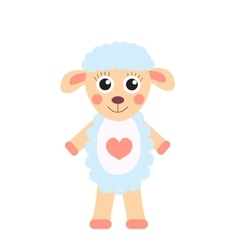 Cute cartoon character sheep Children s toy sheep vector image vector image
