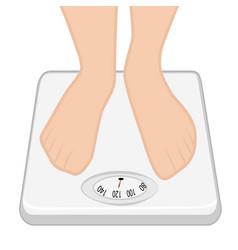Feet on the weight machine weight control vector