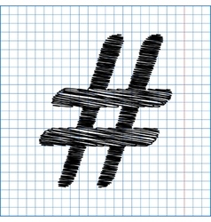 Hashtag sign Flat style icon vector image