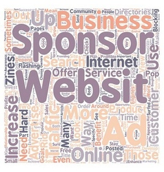 How to use sponsor ads to increase website traffic vector