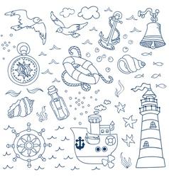 Nautical Sea Design Elements vector image vector image
