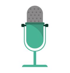 vintage microphone studio style vector image