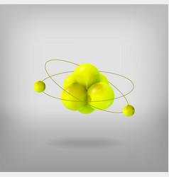 3d molecule structure vector