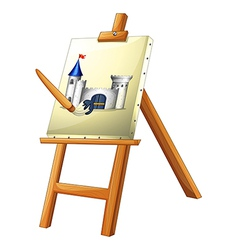 A painting with a paint brush vector image