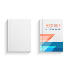 abstract book cover design template vector image