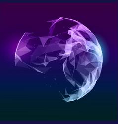 abstract music sphere futuristic techno vector image