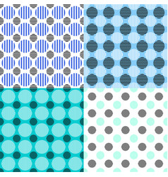 abstract seamless pattern set - circle design vector image