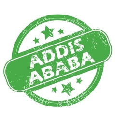 Addis Ababa green stamp vector