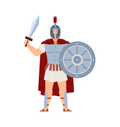 Ares greek deity war male character in armor vector