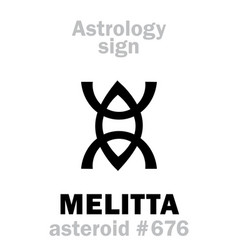 Astrology asteroid melitta vector