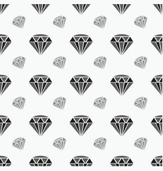 Black seamless pattern with diamond shapes vector