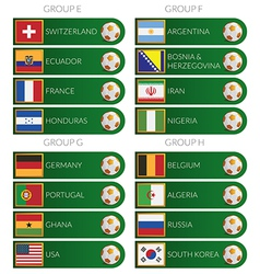 brazil soccer cup 2014 tags vector image