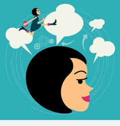 business woman growth concept vector image