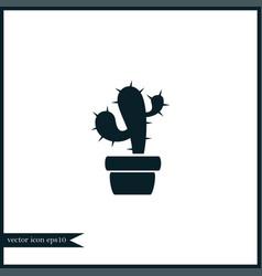 cactus icon gardening vector image