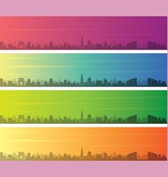 chisinau multiple color gradient skyline banner vector image