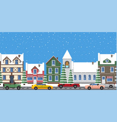 cityscape horizontal poster vector image