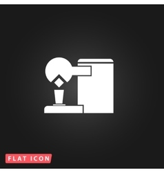 Coffee maker flat icon vector image