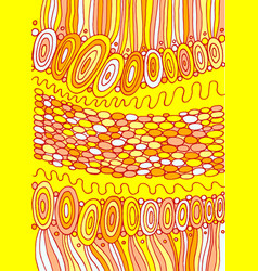 doodle colorful yellow background psychedelic vector image