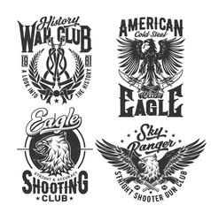 Eagle american t shirt print shooting ranger club vector