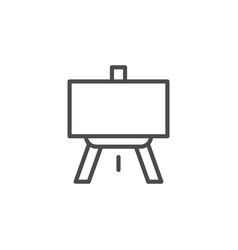 easel line outline icon and art concept vector image