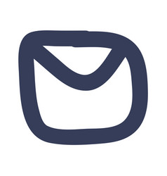 Email doodle symbol vector