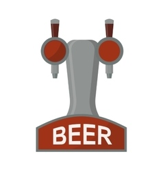 equipment for dispensing beer isolated vector image