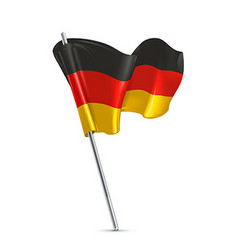flag germany 3d icon vector image