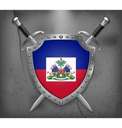 Flag of Haiti Medieval Background vector image