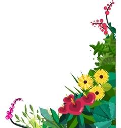 flat floral frame Home Plants frame vector image