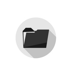 folder in gray circle folder icon in trendy flat vector image