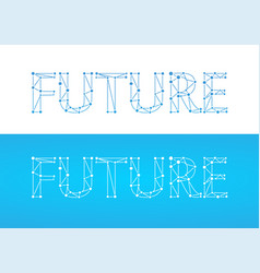 future - caption in blue color isolated on white vector image