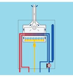 Gas boiler vector