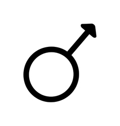 Gender sign spear and shield of Mars 3407 vector image
