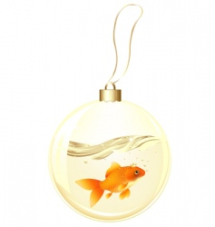 golden ball with goldfish vector image