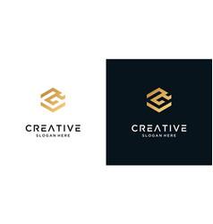 Golden letter r logo design inspiration vector