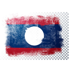 grunge flag laos vector image
