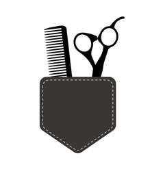 hair stylist tools logo beauty haircut salon vector image