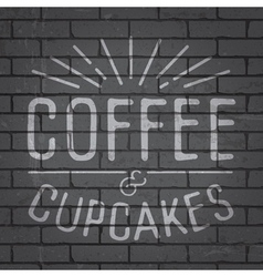 Hand drawn lettering slogan for coffee vector