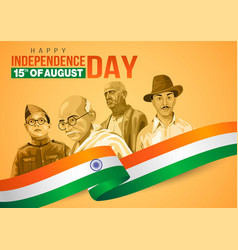 Happy independence day 15th august happy vector