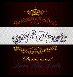 invitation card in luxury style for design vector image