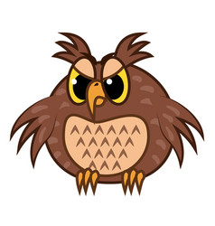 isolated emoji character cartoon angry owl vector image