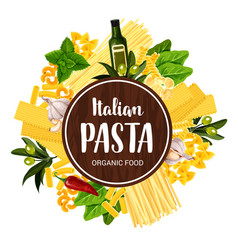 Italian pasta restaurant menu cover vector