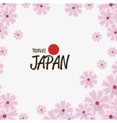 Japanese culture natural flowers vector
