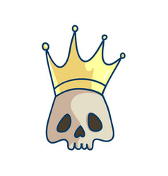 king of the death vector image