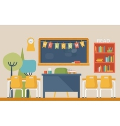 Literature classroom interior in school or college vector image