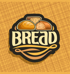 logo for bread vector image