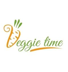 Logo or icon veggie time vector
