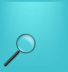 Magnifying glass in mint background vector