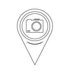 map pointer camera icon vector image